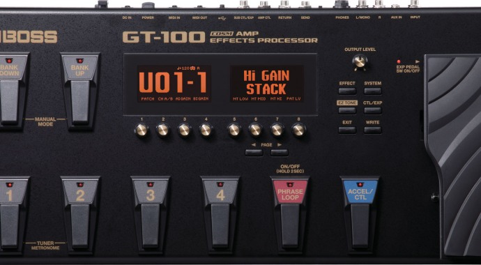 Boss GT-100 AMP Effects Processor - гитарный процессор
