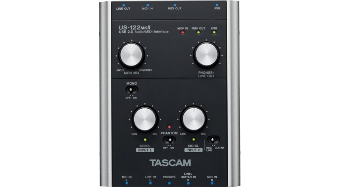 Tascam US-122MKII - USB AUDIO/MIDI интерфейс